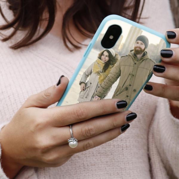 photo phone case flexi blue